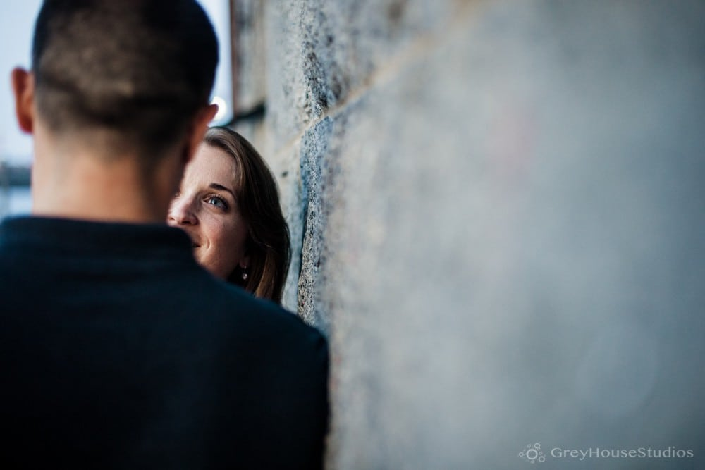 Jenny + Ben's City Engagement at Quincy Market + Faneuil Hall photos in Boston, MA by GreyHouseStudios