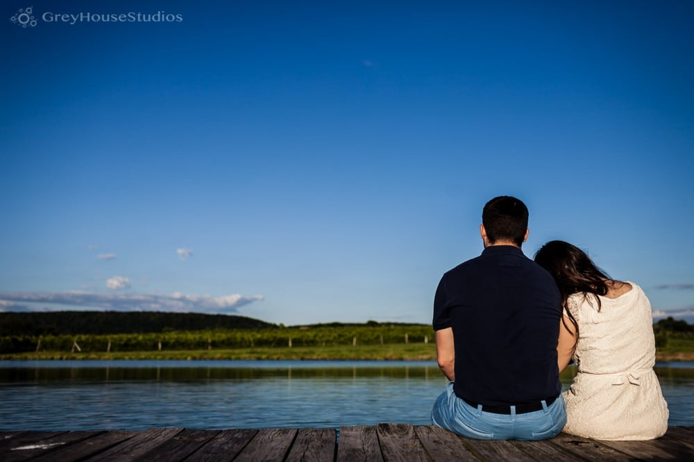 Maria + Andrew's Gouveia Vineyard Engagement photos in Wallingford, CT by GreyHouseStudios