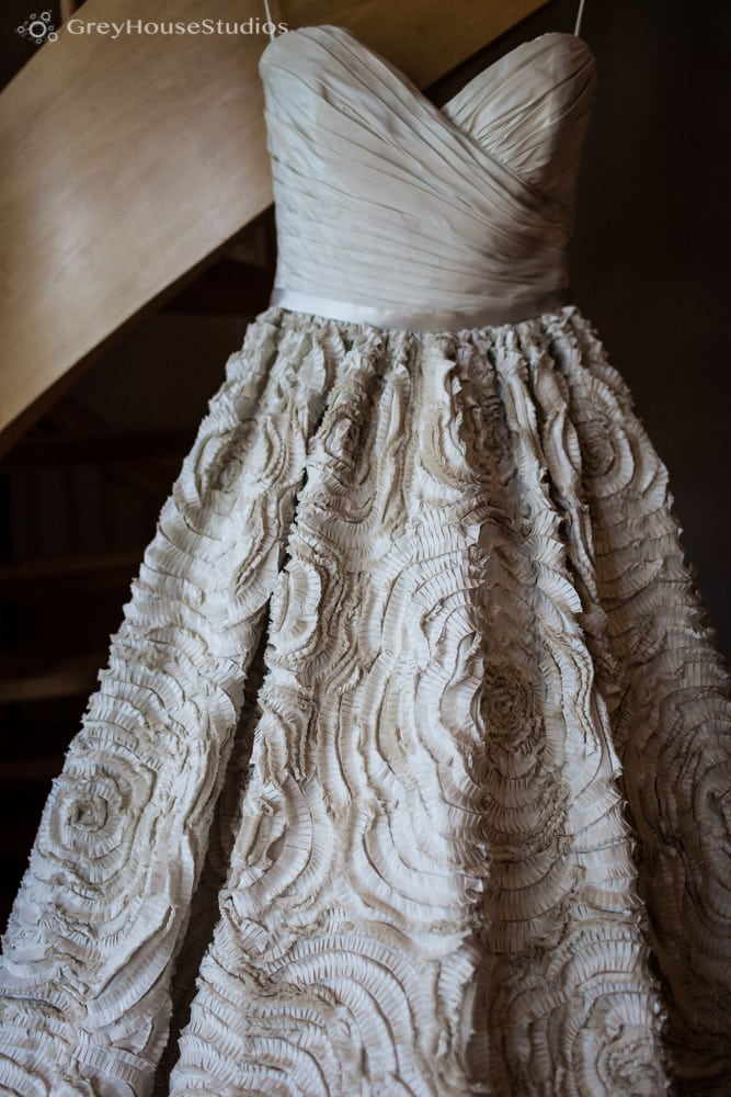 winvian wedding photos detail wedding dress getting ready