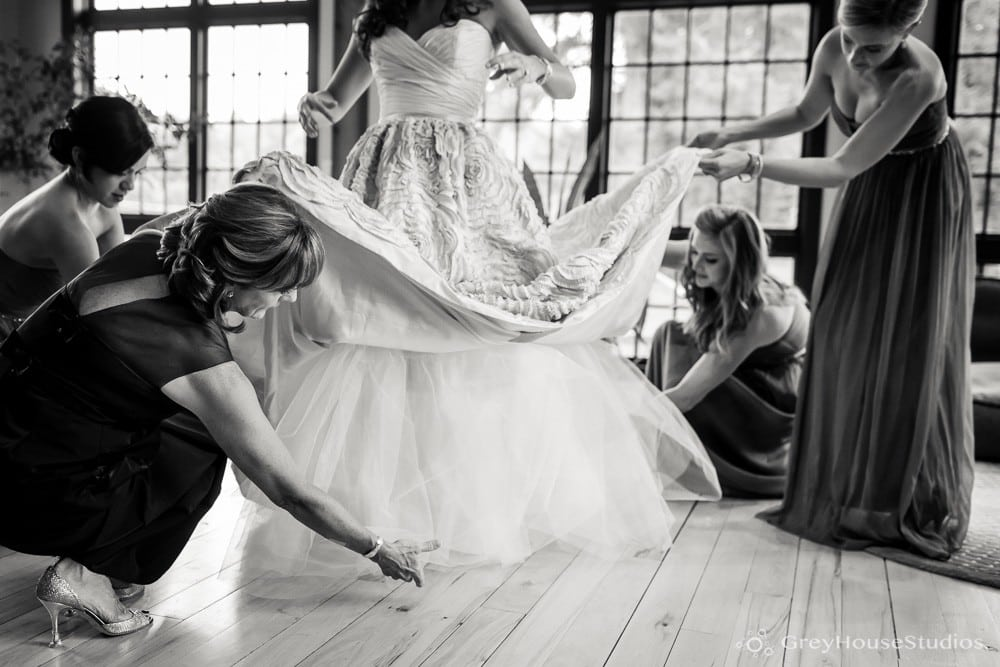 winvian wedding photos bride wedding dress detail