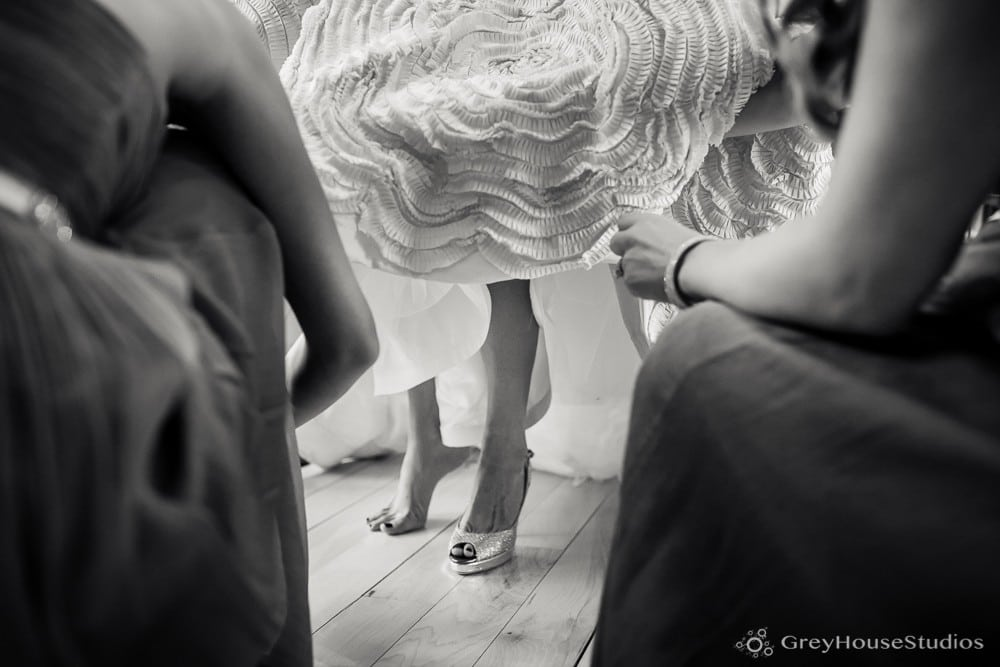 winvian wedding photos bride wedding shoes detail