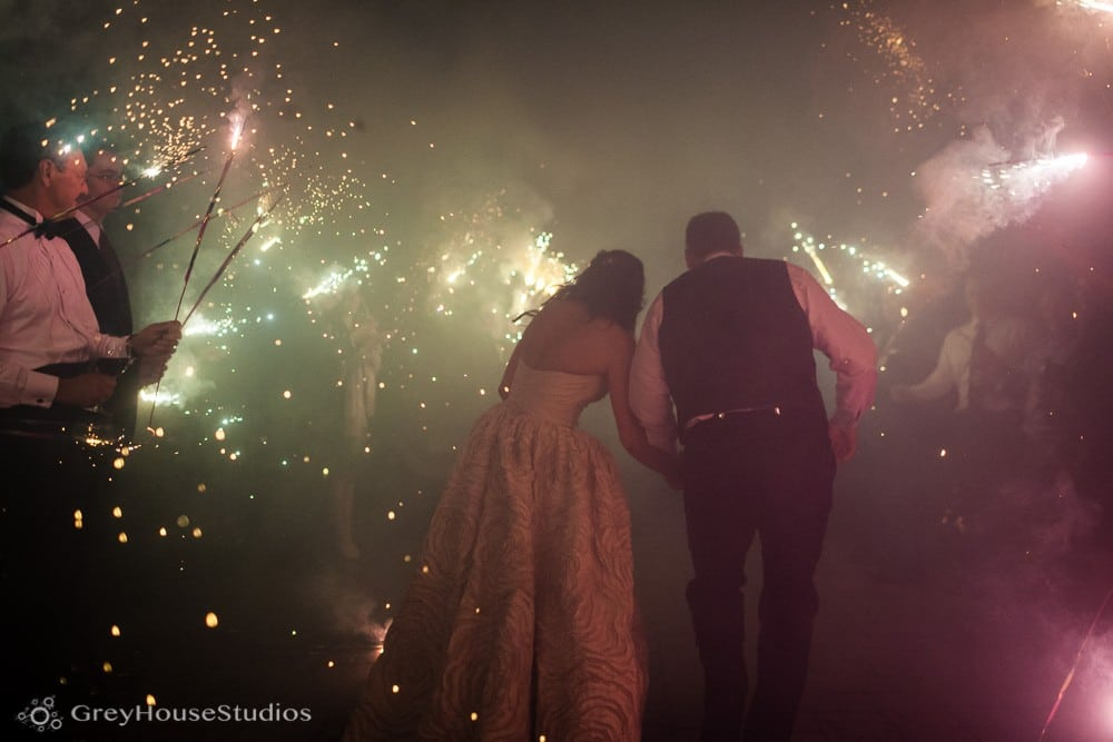 winvian wedding reception photos bride and groom sparkler exit