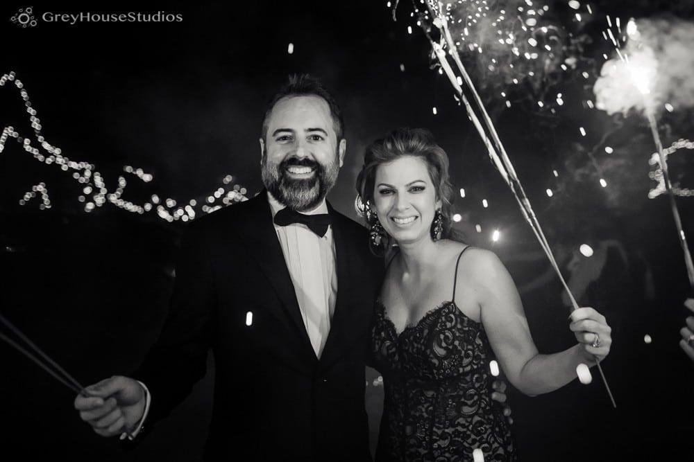 winvian wedding reception photos couple holding sparklers