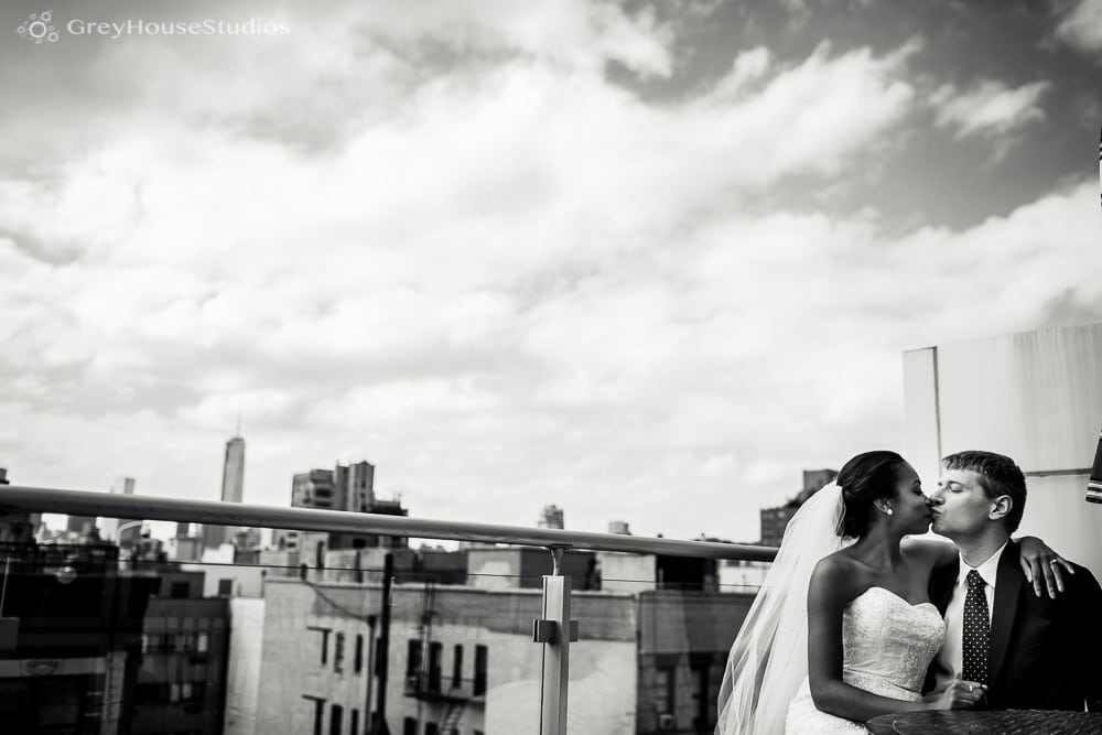 nyc east village rooftop first look wedding photos