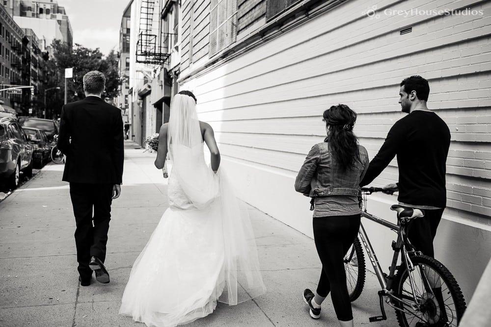 nyc wedding bride and groom portrait street photos