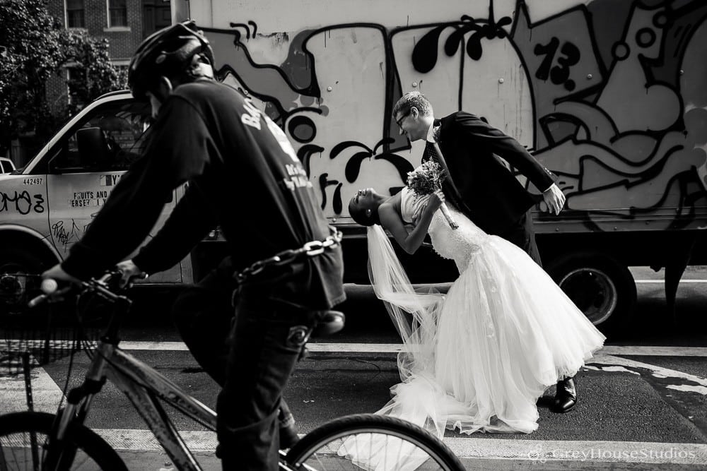 nyc wedding bride and groom couples portrait photos after first look