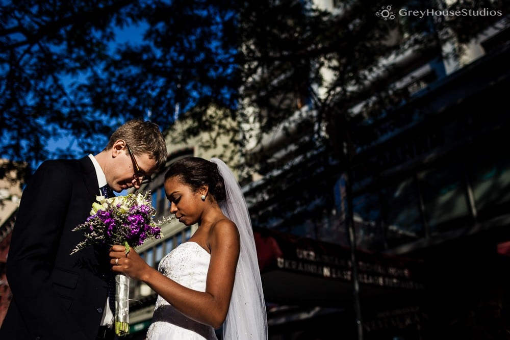 nyc east village wedding bride groom couple portrait photos